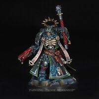Warhammer 40K painted Dark Angels Primaris Chaplain, NMM style of painting