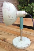 Vintage Industrial Ergon Heat Lamp Lift Off Section Converted To Table Desk Lamp
