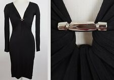 sz 40 / US 4 GUCCI by Tom Ford stretch dress long sleeves