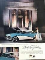 1956 Buick Cleveland Museum Vintage Advertisement Print Art Car Ad Poster LG75