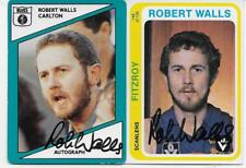 1979 & 88 SCANLENS  CARDS ROBERT WALLS HAND SIGNED / BEST QUALITY SIGNATURES