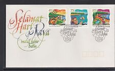 COCOS Islands 1997 FESTIVE SEASON  Christmas, Hari Raya set of 3 on FDC  -