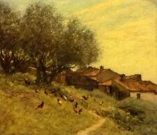 Dream-art oil painting henry herbert la thangue  a hillside village in provencee
