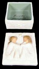 "Willow Tree Susan Lordi Friendship Keepsake Box ""Forever True, Forever Friends."""