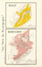 Bourgogne bourgogne vigne carte rully mercurey aoc côte chalonnaise. larmat 1953
