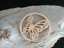 1x LARGE BUTTERFLY COIN/MONEDA FOR GENUINE STERLINA MI MILANO NECKLACE/CARRIER