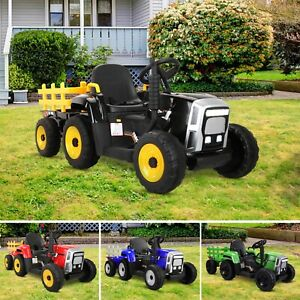 12V Kids Ride On Tractor Toy Electric Car Battery Kids Operated Toddlers Child