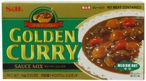S&B Golden Japanese Curry Medium Hot Big Pack 1KG