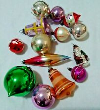14 ORIGINAL VINTAGE BLOWN GLASS CHRISTMAS TREE BAUBLES TREE DECORATIONS
