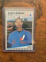 1989 Fleer Randy Johnson Montreal Expos #381 Baseball Card