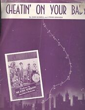 Cheatin' On Your Baby Sheet Music Piano Voice Guitar 1943 Korn Kobblers Graham