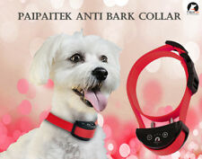 RED Shock Dog Bark Collar Automatic Rechargeable Static 5 Lvs Training Paipaitek