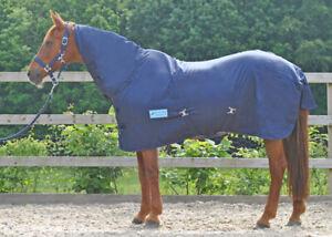 MAXIMA COMBO SUMMER SHEET - COTTON MIX - NAVY - HORSE/PONY/SHETLAND - 3'0 - 7'0