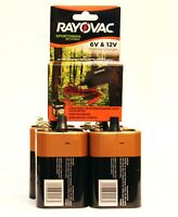 Corn Feeder Set - 4 Duracell MN908 CopperTop 6-Volt Batteries + Rayovac Charger