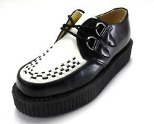 TUK Black/White Unisex Rockabilly Creepers …