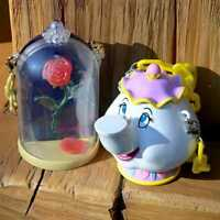 Tokyo Disney mini snack case Beauty and the Beast Magic rose and Mrs. Potts MINT
