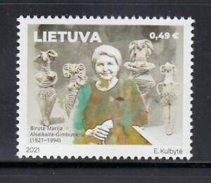 LITHUANIA Birutė Marija Alseikaitė-Gimbutienė, Archaeologist MNH stamp