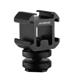 Andoer On-Camera Cold Shoe Mount Adapter for Canon Nikon SonyDSLR Camera R3M2