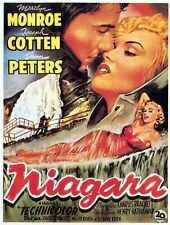 "Niagara 1953 Marilyn Monroe Joseph Cotton Re-Issued Movie Poster 27"" x 40"""