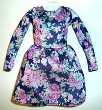 %***Barbie Skipper Kleidung,Kleid mit Blütendruck***%