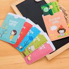 Hot Sale 3PCS Lovely Cooky Girl Business ID Credit Card Pocket Bag Wallet Holder