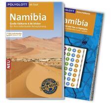 REISEFÜHRER NAMIBIA Polyglott 2015/16+ Landkarte ausfaltbar UNGELESEN, wie neu