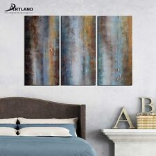 Abstract Canvas Wall Art Set Framed Hand-painted Modern Oil Painting 24x36'' 3PC