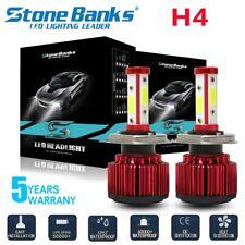 H4 9003 Cob Led Headlight Kit 348W 84000Lm Hi Low Bulbs 6000K Canbus Error Free