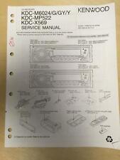 Kenwood Service Manual for the KDC M6024 MP522 X569 CD Car Radio       mp