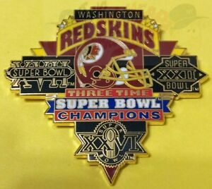 WASHINGTON REDSKINS SUPER BOWL 3X CHAMPIONS PETER DAVID PIN LAST FEW!!