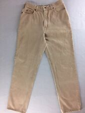 "Lands' End Jeans Beige All Cotton Classic Fit Tapered Leg Size 10 30""x30"""