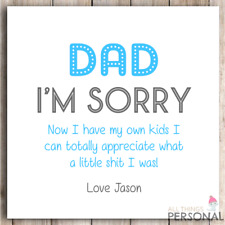 Personalised Fathers Day Card Dad Daddy Father's Day Funny Cheeky Joke Rude 2