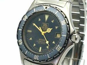 TAG HEUER Watch 2000 972.613 Navy Dial   Quartz St.Steel Date   T2788