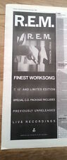 R.E.M Finest Worksong 1988 UK Poster size Press ADVERT 16x6 inches