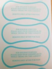 500 Hygiene Protection Adhesive Labels for Swimwear/Underwear, Blue Print
