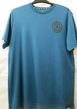 Marvel Mens Medium Blue Shirt E9 Short Sleeve Euc
