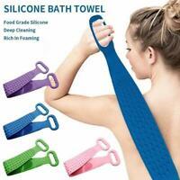 Bath Shower Silicone Body Brush Bath Belt Exfoliating Back Brush Wash Clean New