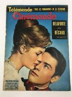 CINEMONDE #1249 - French Magazine - 1950s - ALAIN DELON COVER - Sophia Loren
