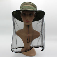 Deluxe MOSQUITO HAT NET Head Protector Bee Bug Mesh Mozzie Insect Fishing Fly