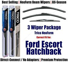 3pk Wipers Front/Rear NeoForm fit 1981-1990 Ford Escort Hatchback 16180x2/30180
