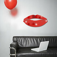 3D Mirror Kiss Lip Wall Sticker DIY Art Mural Home Decor Acrylic Decals Stickers