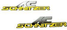 x2 New Yellow BMW AC Schnitzer Emblem / Badge / Decal / Logo Replaces OEM