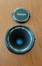 Superbe Objectif CANON Macro FD 50 MM 1: 3.5 S.S.C. Vintage CANON Macro Lens.
