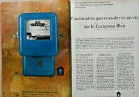 PUBLICITÉ DE PRESSE 1964 EDF LE COMPTEUR BLEU TOUT CE QUE VOUS DEVEZ SAVOIR..