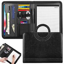 MoKo Professional Handle Business Organizer Zippered Padfolio Portfolio Folder