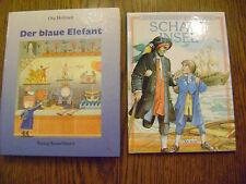 Der blaue Elefant und Schatzinsel - 2 Bücher - wie Neu -