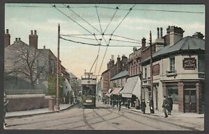 Postcard Gillingham nr Chatham Medway Kent tram Prince Albert pub High Street