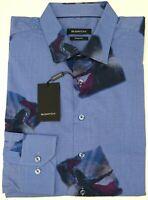 NWT $199 Bugatchi Blue Spartan Shirt Shaped Fit Mens M L XL Long Sleeve Cotton