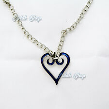 collana cosplay kingdom hearts necklace sora heart cuore halskette blu new #1