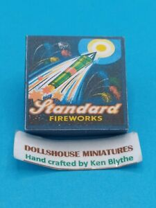 1:12th Scale Box of Standard Fireworks  Crafted by Ken Blythe